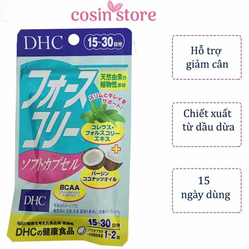 Viên uống hỗ trợ giảm cân DHC Forskohlii Soft Capsule