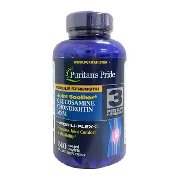 Viên uống Puritan's Pride Double strength glucosamin chondroitin MSM
