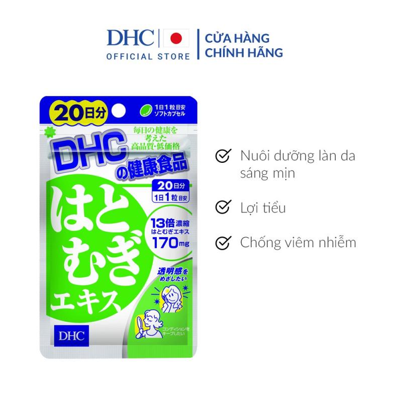 Viên uống sáng da DHC Nhật Bản Adlay Extract 20 ngày