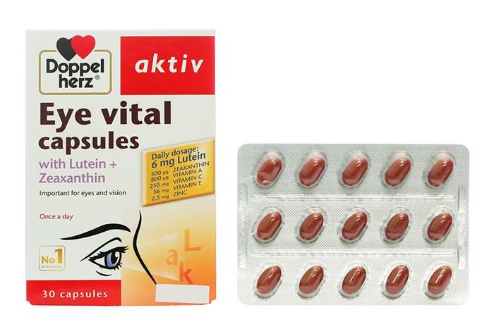Viên uống tăng cường thị lực, chống mỏi mắt Doppelherz Aktiv Eye Vital Capsules (Hộp 30 viên) 5.0