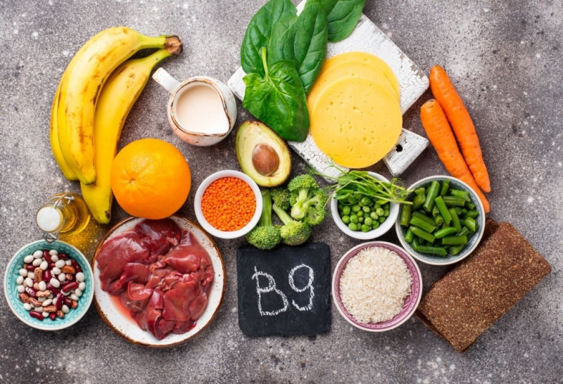 Bổ sung thực phẩm giàu vitamin B9