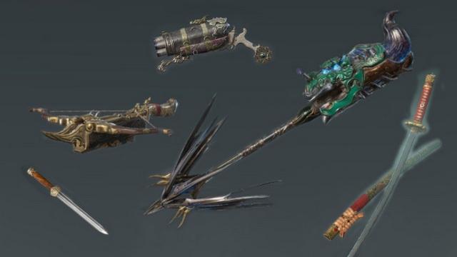 vũ khí trong Naraka Bladepoint