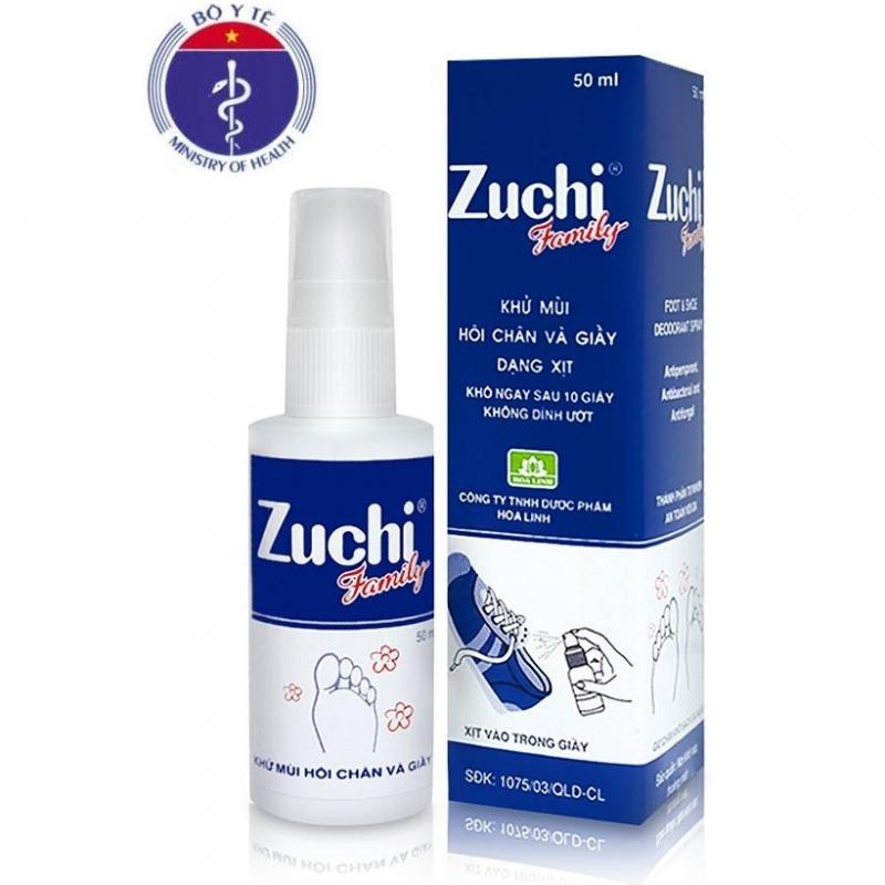 Xịt Khử Mùi Hôi Chân Và Giày Zuchi Family