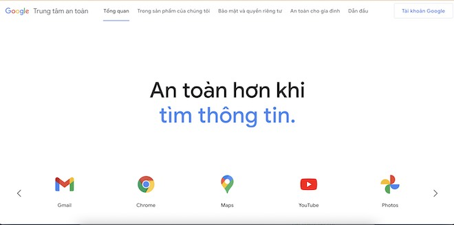 Kho thủ thuật giúp sử dụng Gmail, Chrome, Maps, YouTube,… an toàn