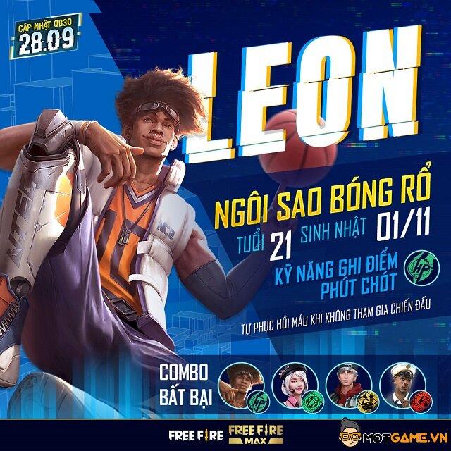 Tất tần tật thông tin về nhân vật mới Leon trong Free Fire