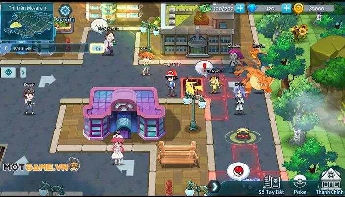 Bảo Bối Đại Chiến: Độc đáo Gameplay, Pokémon đã mắt