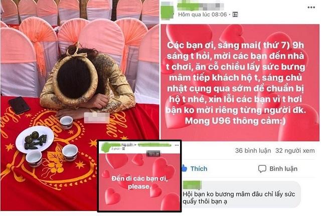 Cô dâu lên Facebook mời cưới bị bạn bè quay lưng, phút cuối phải lên mạng cầu cứu