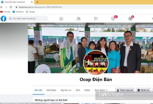 Quảng Nam: Hội Nông dân lập trang Facebook OCOP Điện Bàn bán toàn nông sản đặc sản