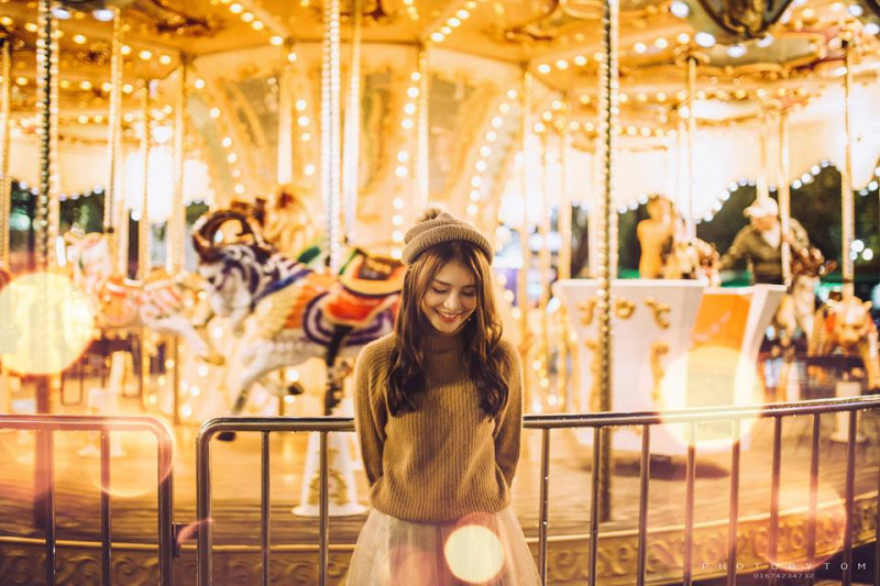 Công viên Thỏ Trắng còn là địa điểm chụp ảnh miễn phí tuyệt vời dành cho những ai yêu thích chụp ảnh