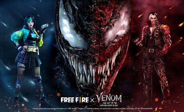 Free Fire: Nhận quà khủng sự kiện hợp tác độc quyền bom tấn Venom: Đối Mặt Tử Thù