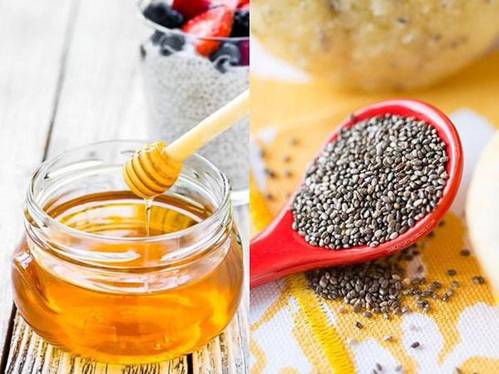 Giảm cân bằng hạt chia mật ong