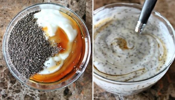 Hạt chia giảm cân với sữa chua