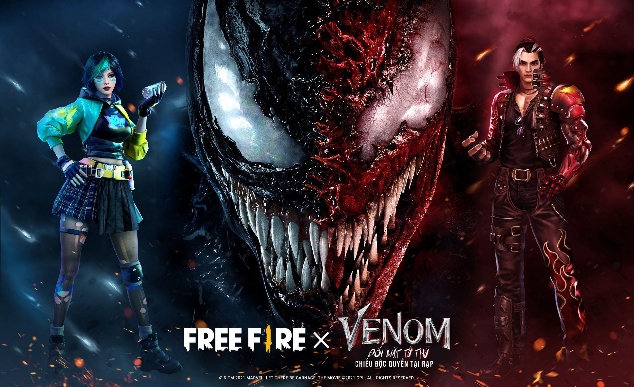 Nhập tiệc hỗn loạn với màn hợp tác giữa Free Fire và bom tấn 'Venom 2'