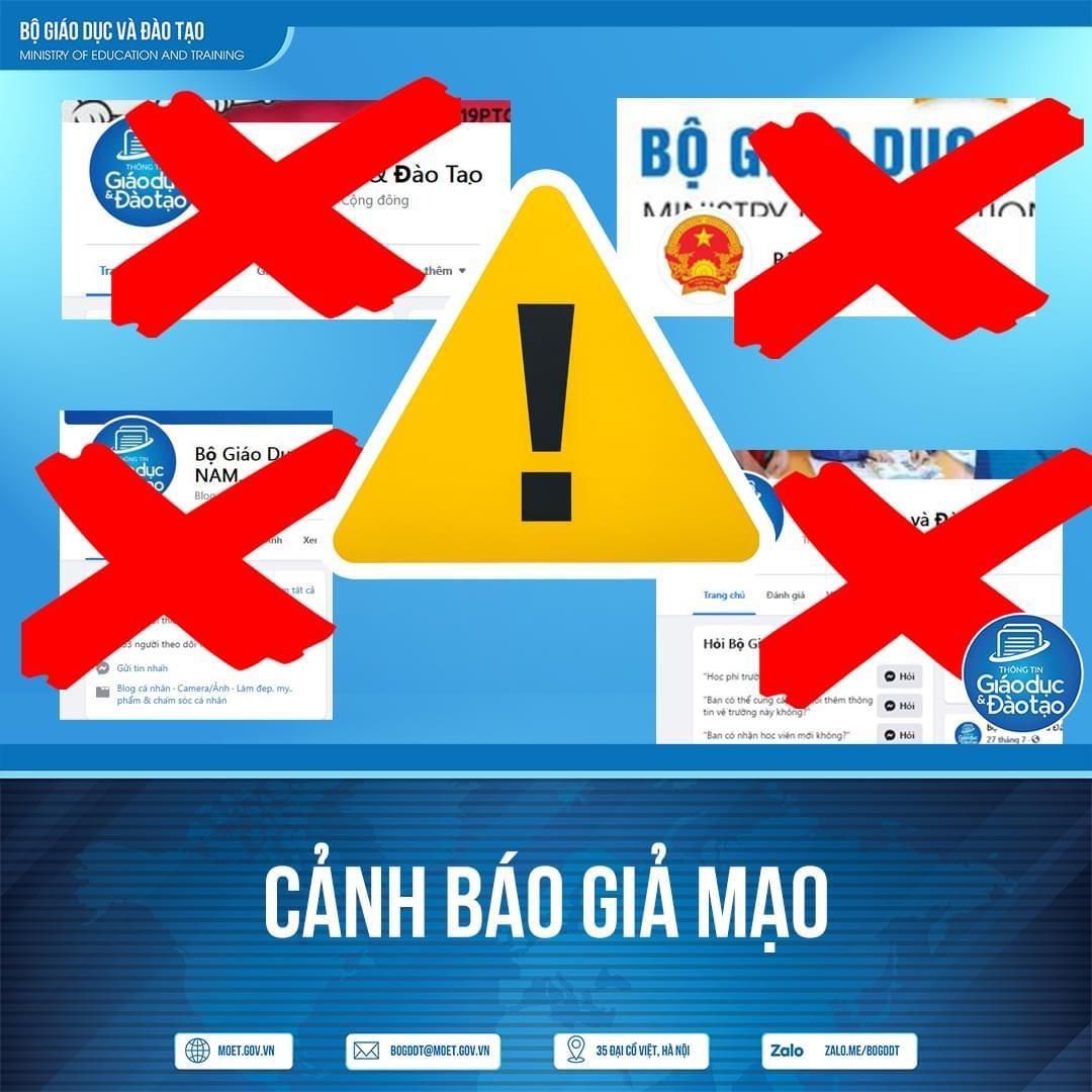Nhiều trang Facebook mạo danh Bộ trưởng GD-ĐT, 'cung cấp' dịch vụ làm bằng cấp và chứng chỉ