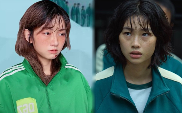 """CĐM bất ngờ khi tìm ra """"chị em sinh đôi"""" với hot girl trong Squid Game tại Việt Nam, giống từ thần thái tới gương mặt"""