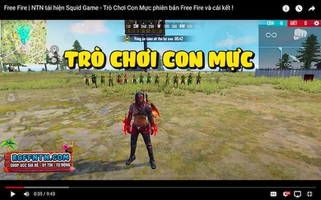 Mừng kênh YouTube đạt 1 triệu sub, game thủ làm Squid Game phiên bản Free Fire