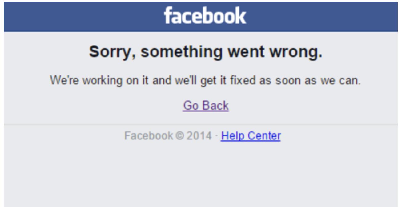 Facebook tại Việt Nam gặp lỗi hàng loạt lúc nửa đêm