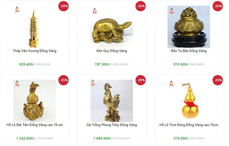 Top 5 Cửa hàng bán đồ đồng phong thủy uy tín nhất Hà Nội