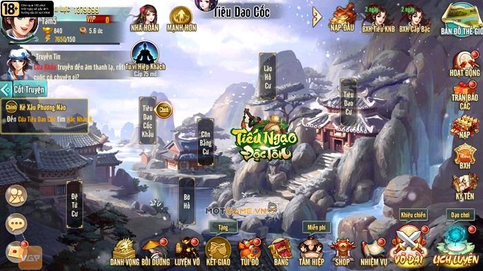 Tiếu Ngạo Độc Tôn: Game tụ hội võ lâm tranh đấu sắp cán mốc 500.000 lượt đăng ký